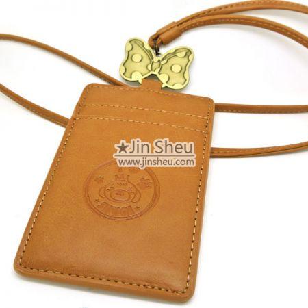 Leather ID Holder - Premium Leather ID Holder