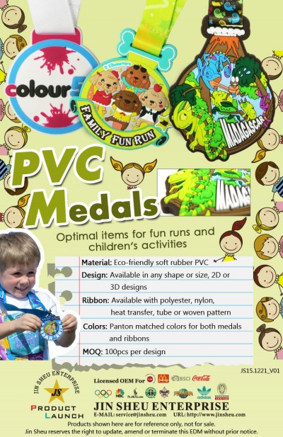 PVC Medals - Optimal items for fun runs and children's activities