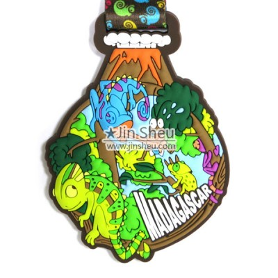 PVC Rubber Medals - Cute and color soft pvc rubber medal for family fun runs and children's activities