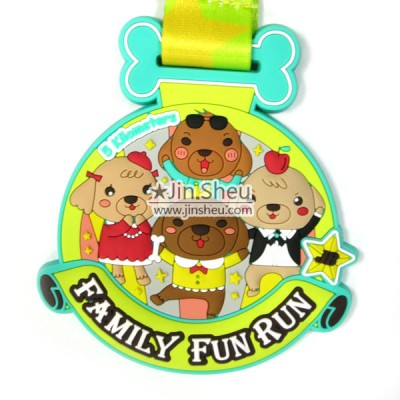 Soft Rubber Medal - Cute and color soft pvc rubber medal for family fun runs and children's activities