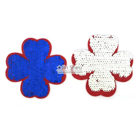 Embroidery Reversible Sequin Badges - Embroidery flip sequin patches