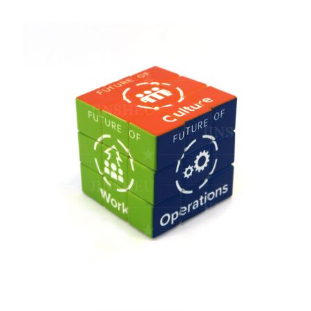 custom made logo on 5.7cm puzzle cube