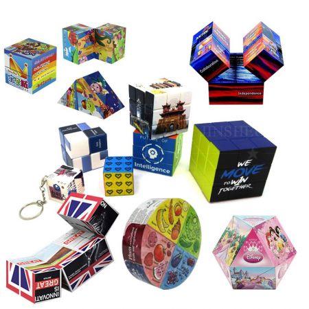 Custom Logo Magic Cube - Custom Logo Printing Magic Cube