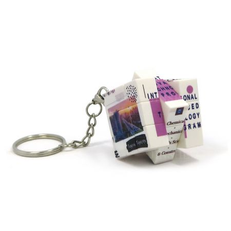 Custom Micro Puzzle Cube Keyring