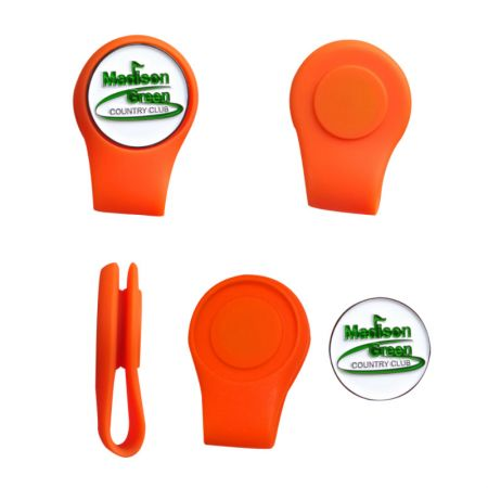 silicone golf hat clip magnet