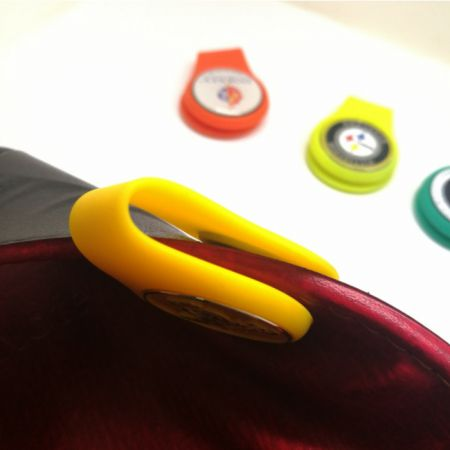 custom silicone ball marker cap clips