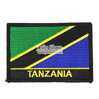 Tanzania Flag Patches - Tanzania Flag Patches with Black Frame
