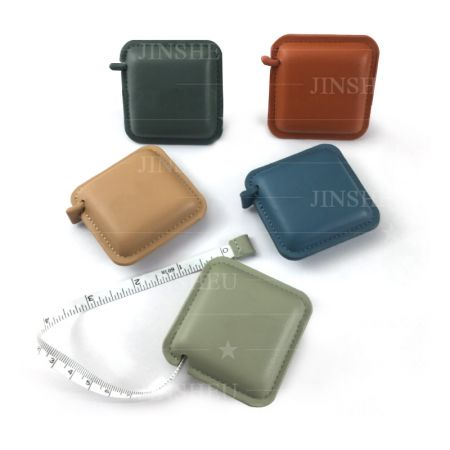Portable leather tape measure