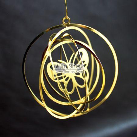 3D Christmas Ornaments - Round 3d Xmas ornament