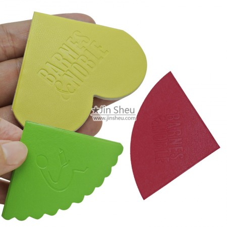 PU Leather Corner Bookmarks - Leather Corner Bookmarks with Debossed Logo