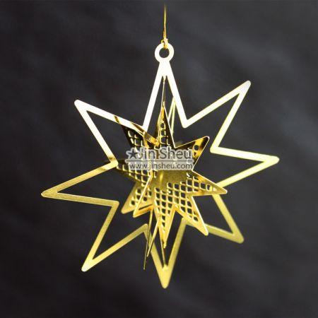 Christmas Tree Ornaments - Star-shaped Christmas Bauble