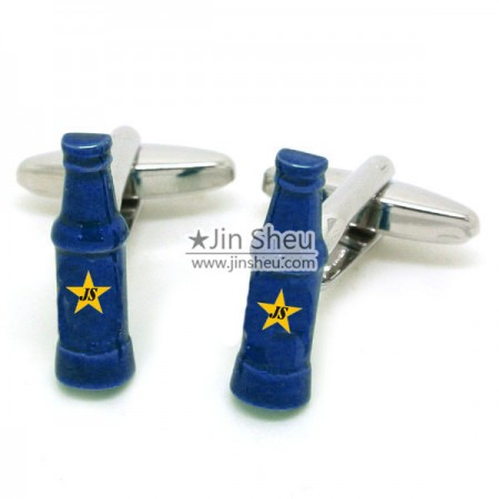 Custom beer bottle Cufflinks - beer bottle Cuff Links