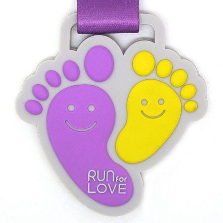 PVC Virtual Run Finisher Medals - Custom PVC medallions success cases in Taiwan