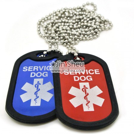 Personalized Dog Tags with Silencer - Personalized Dog Tags with Silencer