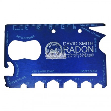 18 in 1 Survival Tool Card - Outdoor survival tool with printed LOGO