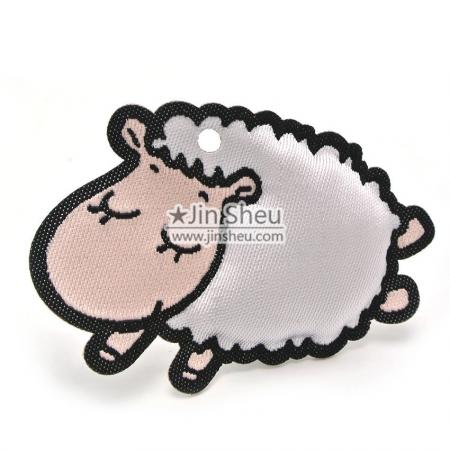 Sheep stuffed woven labels - Sheep woven label tag