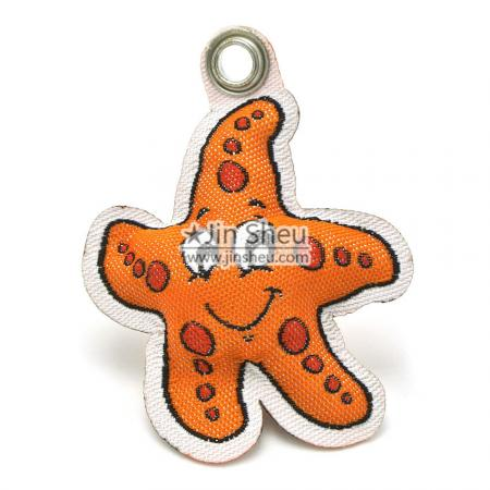 Star-shaped Padded Woven Labels - Padded Woven tags