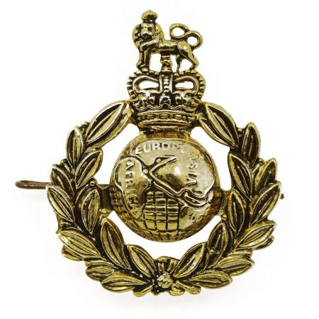 Royal Marines Cap Badge - WW1 Royal Marines Corps Cap Badge