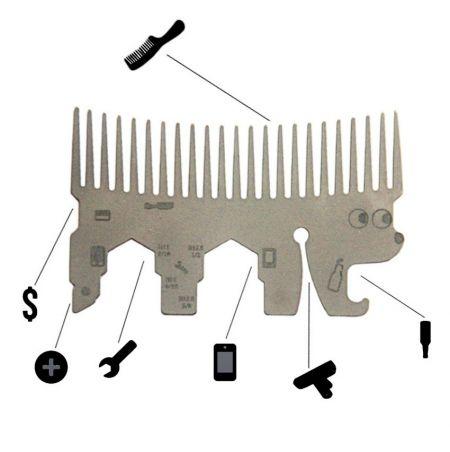 Hedgehog Wallet Comb Multi Tool - Hedgehog Wallet Comb Multi Tool