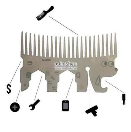 Hedgehog Wallet Comb Multi Tool - Hedgehog Wallet Comb Multi Tool