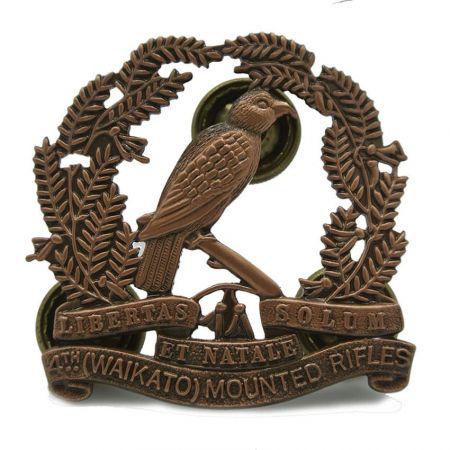 Cap badge of the Waikato Mounted Rifles - 4th (Waikato) Mounted Rifles squadron cap badges