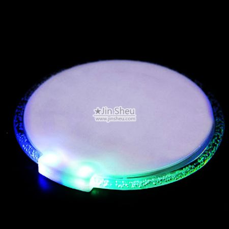 Open designed LED drink coasters - Custom Printed LED Coasters
