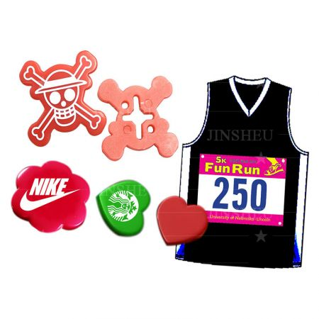 Personalized Running Bib Clips - Running Bib Holder