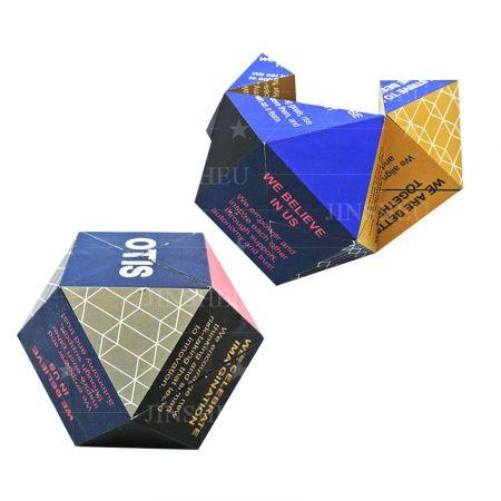 Diamond Folding Cube - Promotional Diamond Shaped Foldable Magic Cube Puzzle