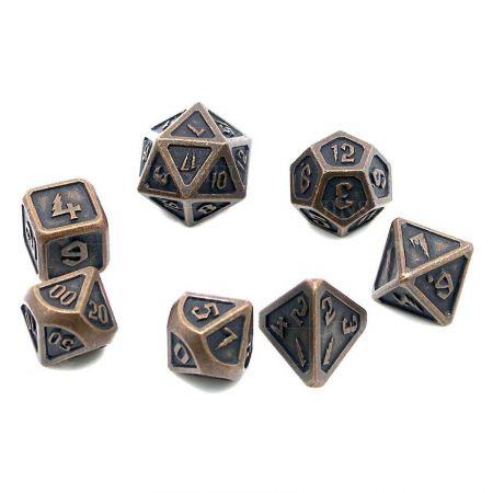 metal d&d dice