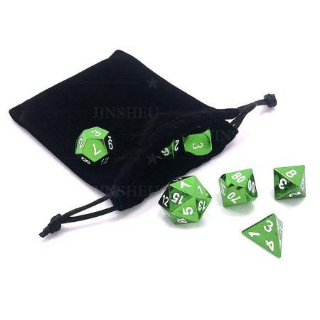 metal dnd dice