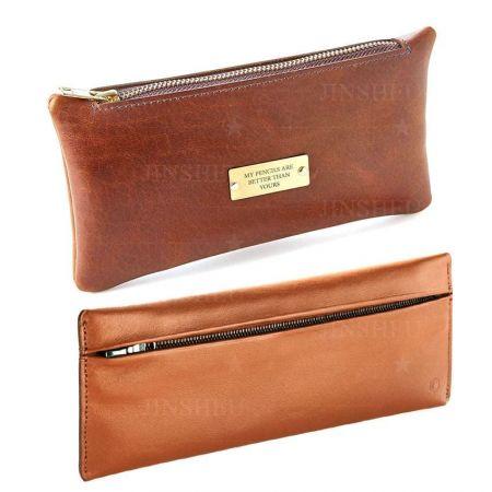 custom leather pen case