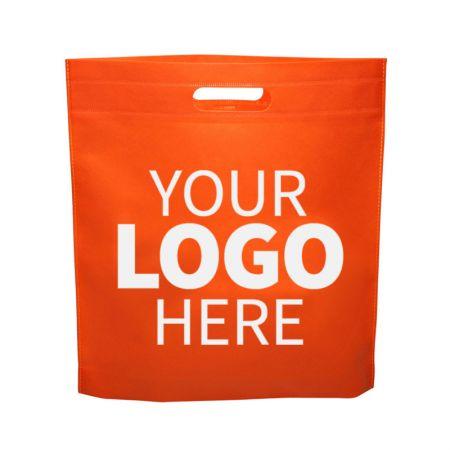 Die cut handle non-woven bags - Customized Die cut handle bags