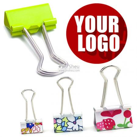 Normal Shape Handle Binder Clips - personalized binder clips
