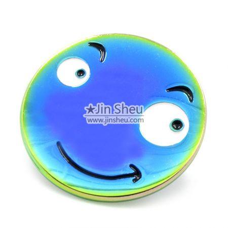 Smiley Face Rainbow Pin
