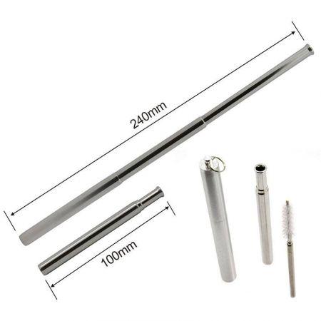 Telescopic Reusable Metal straws - Telescopic stainless steel drinking straws