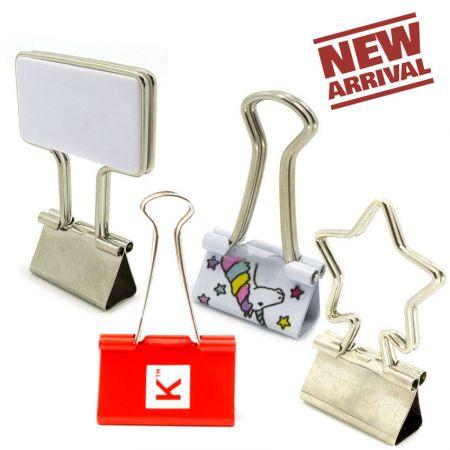 Custom Binder Clips - Promotional foldback paper clips