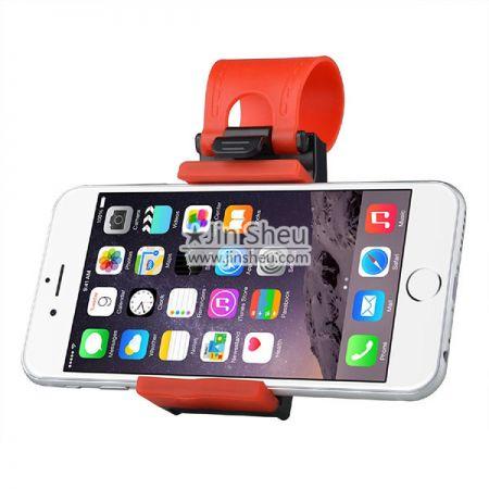 Steering wheel phone holder - Car steering wheel phone socket