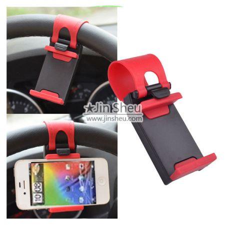 Car steering wheel phone socket holder - car steering wheel phone socket holder