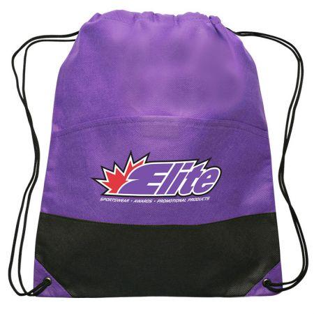 individuelles Logo-Rucksack mit Kordelzug - Personalisierte Rucksackart Non-Woven-Tasche