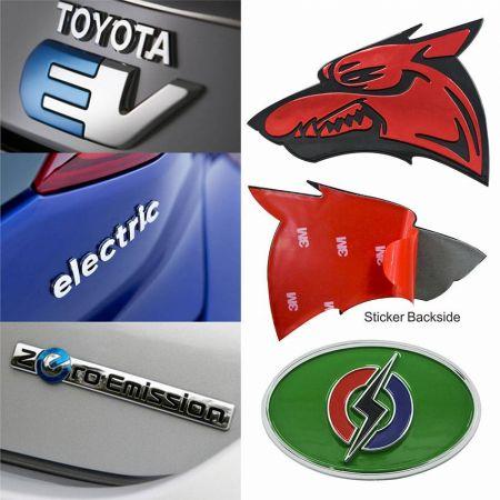 Custom 3D Car Stickers - Custom made abs symbol in car