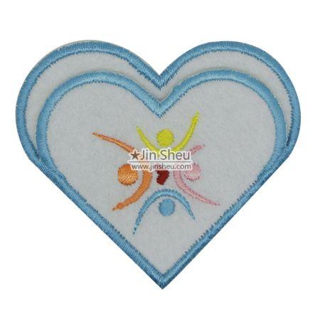 Felt background Corner Bookmarks - heart shaped embroidery corner bookmarks