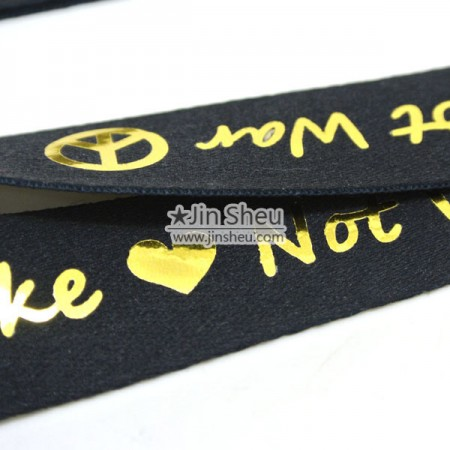 Hot Gold stamping Lanyards - personalised lanyards
