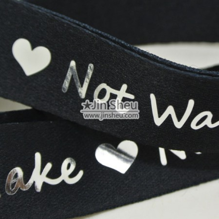 Hot Silver stamping Lanyards - custom lanyards