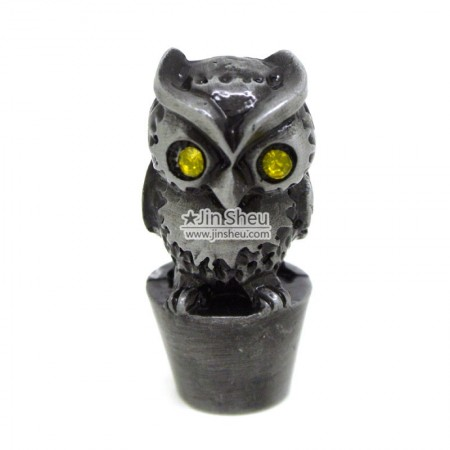 Owl pencil topper - Metal Owl pencil cover