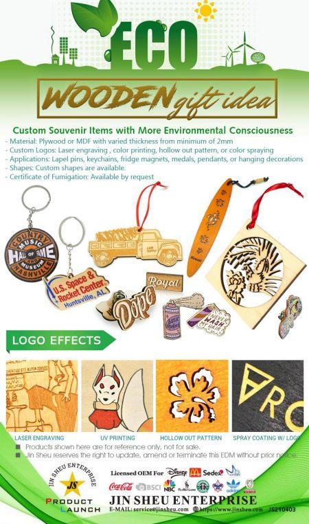 Wooden Gift Idea - Custom Made Wooden Souvenirs