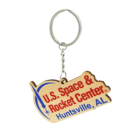 custom logo wooden keychain