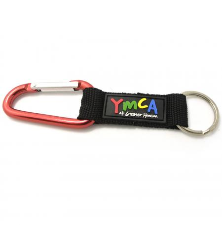 Carabiner Short Lanyards With Soft PVC Labels - Carabiner Short Lanyards With Soft PVC Labels