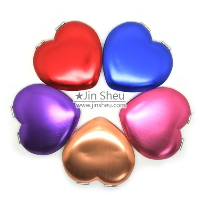 Heart Shaped Anodized Makeup Hand Mirrors - Heart Shaped Anodized Makeup Hand Mirrors