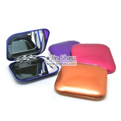 Anodized Magnifying Square Compact Mirrors - Anodized Magnifying Square Compact Mirrors