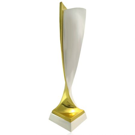 custom logos zinc alloy award trophy